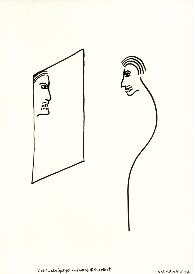 Sieh in den Spiegel und kuess dich selbst